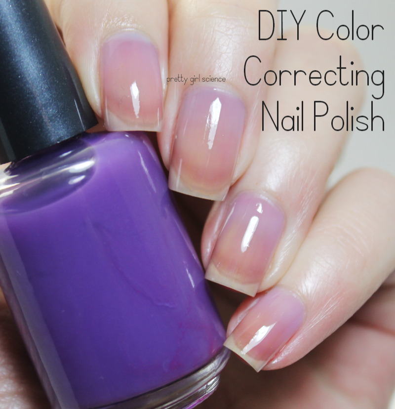 DIY Color Correcting Polish for Yellow Nails | Pretty Girl Science