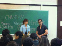 Hritik Roshan and Priyanka Snapped Promoting Krrish 3 Movie at Mithibai college