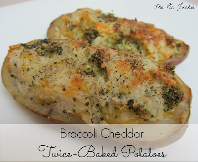 The Pin Junkie: Broccoli Cheddar Twice-Baked Potatoes