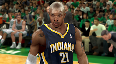 NBA 2K14 Realistic David West Face Mod