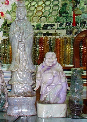 Jade Buddha white and lavender