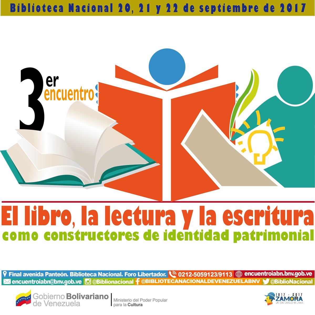 3erEncuentro:El libro, la lectura y la escritura como constructores de la identidad patrimonial