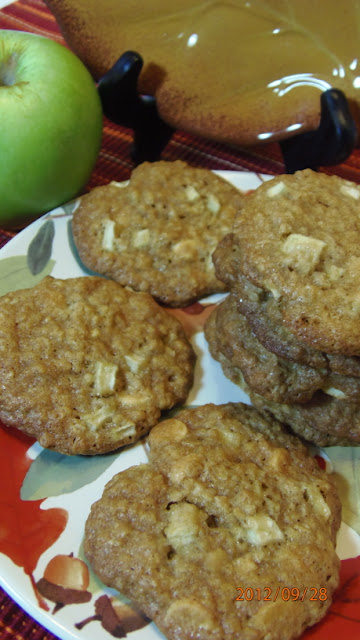 Chewy Oatmeal Apple and White Chocolate Cookie Recipe