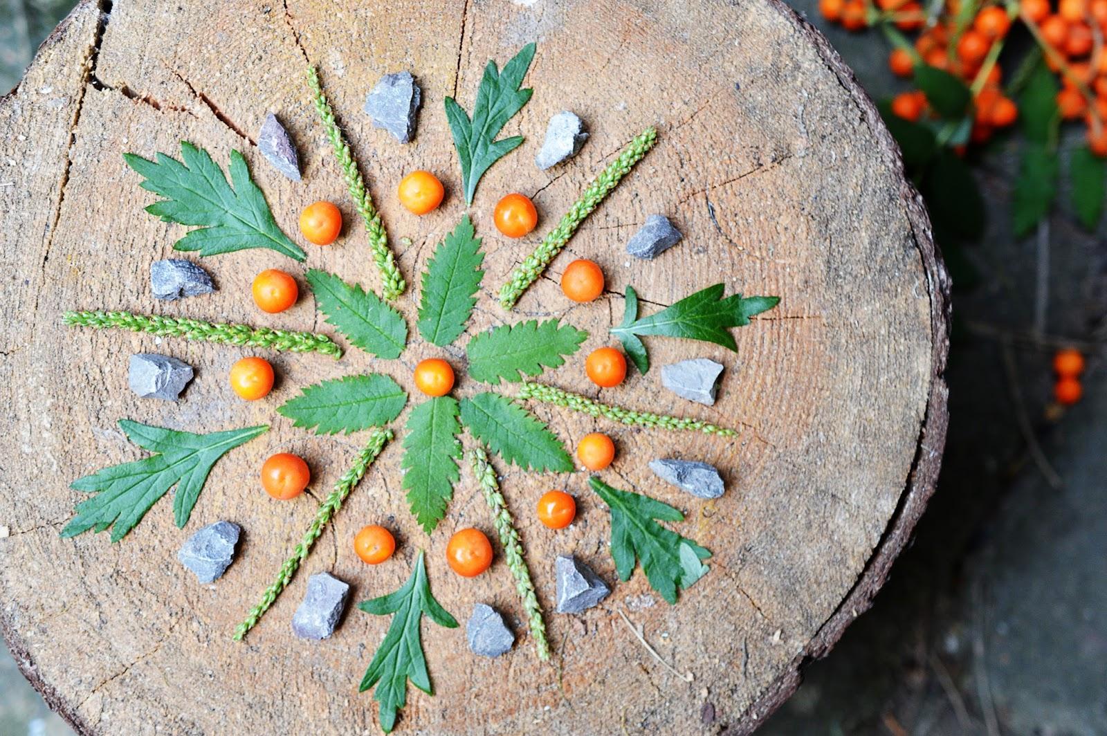 Diy nature mandalas motte - Mandala nature ...