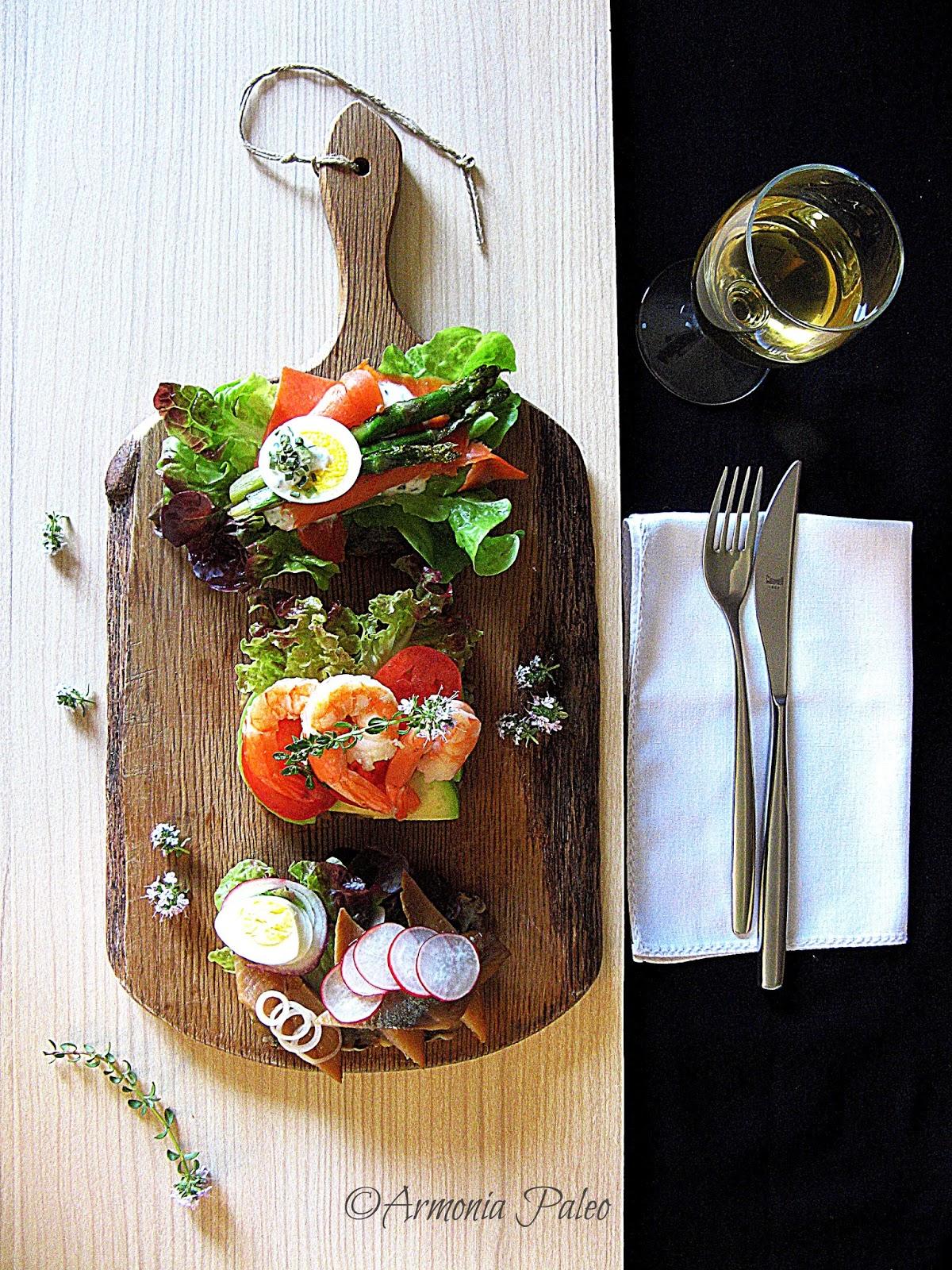 Smørrebrød med Fisk - Panini Danesi con Pesce di Armonia Paleo