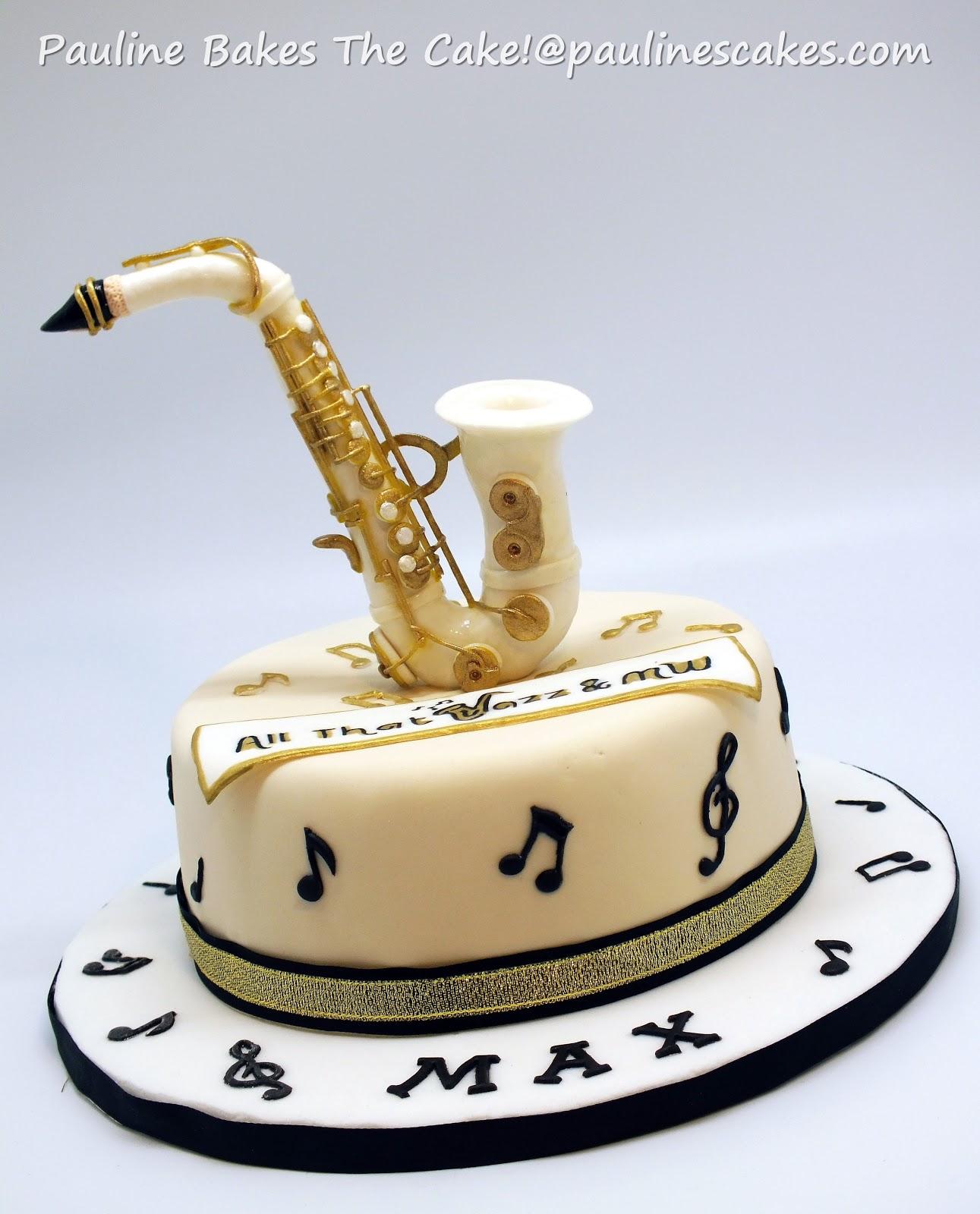 saxophone cakes
