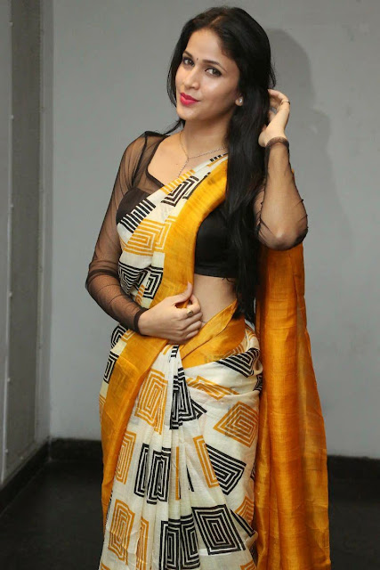 Lavanya Tripathi in Spicy Saree and Transparent Blouse Sizzling Pics