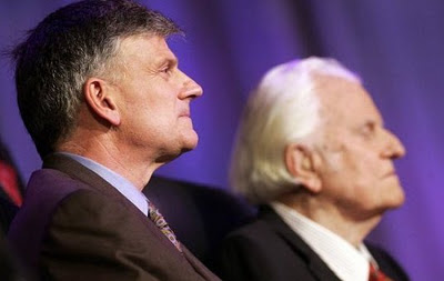 billy Graham with his son Franklin Graham