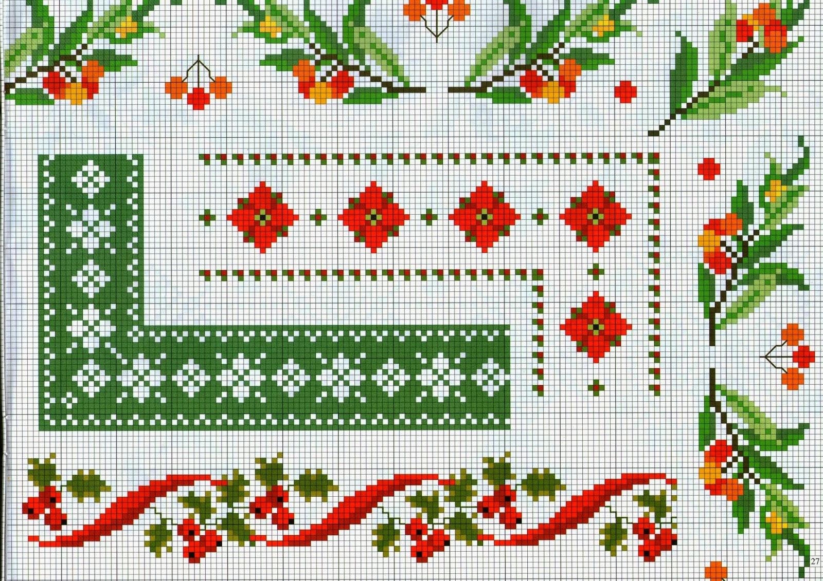 Hobby lavori femminili ricamo uncinetto maglia for Bordi punto croce