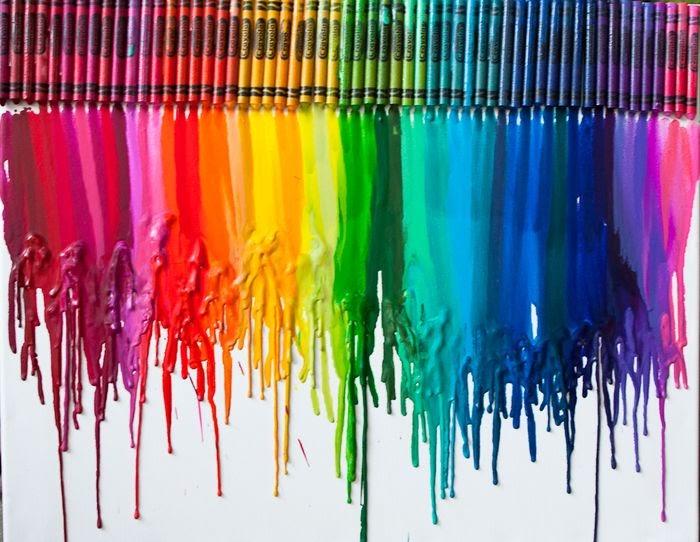9808 diy crayon art for Crayon diy canvas