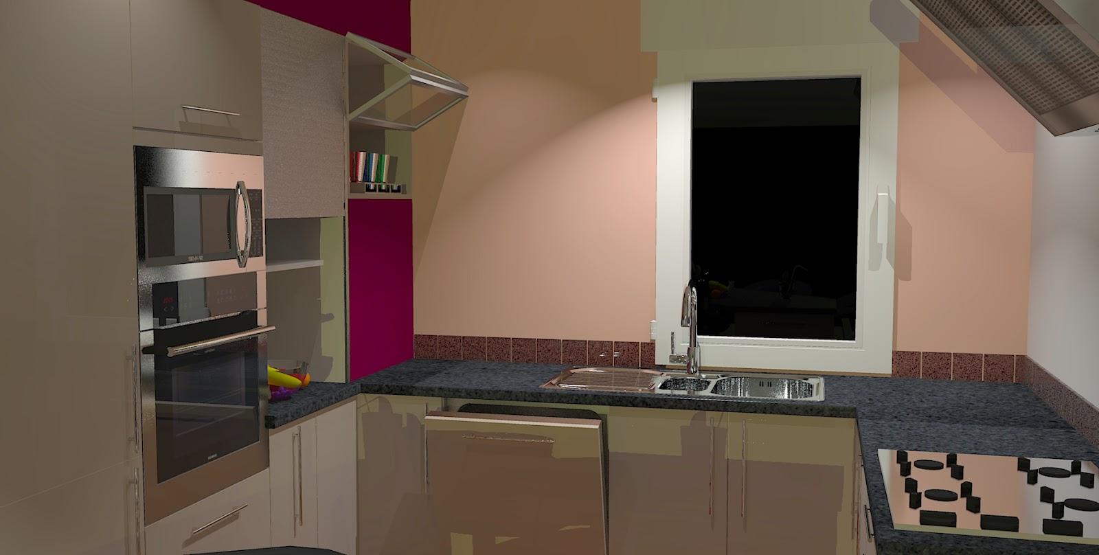Cuisines et bain kitchens and bath projet r alis avec for Cuisine 3d sketchup