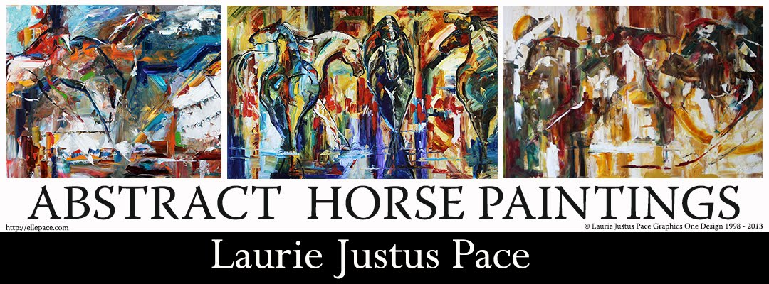 Abstract Horse Painting by Laurie Pace