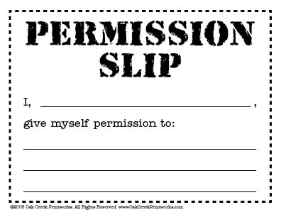 permission slip template .