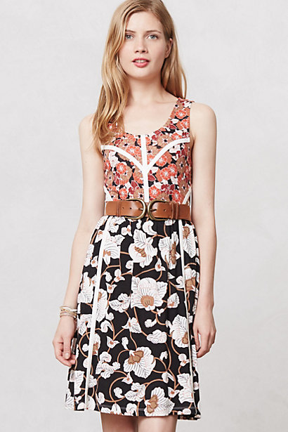 floral knit dress, anthropologie
