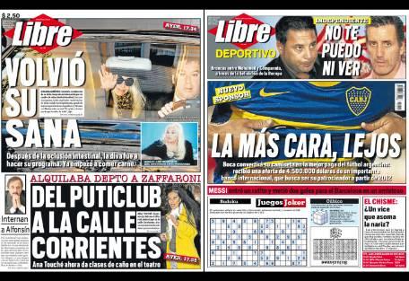 tapa diario libre volvio susana report show el mundo On diario el show del espectaculo