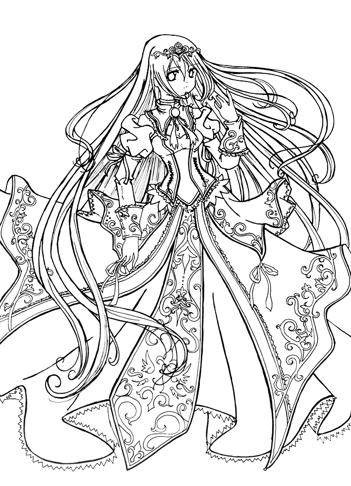 prinses coloring pages - photo#35