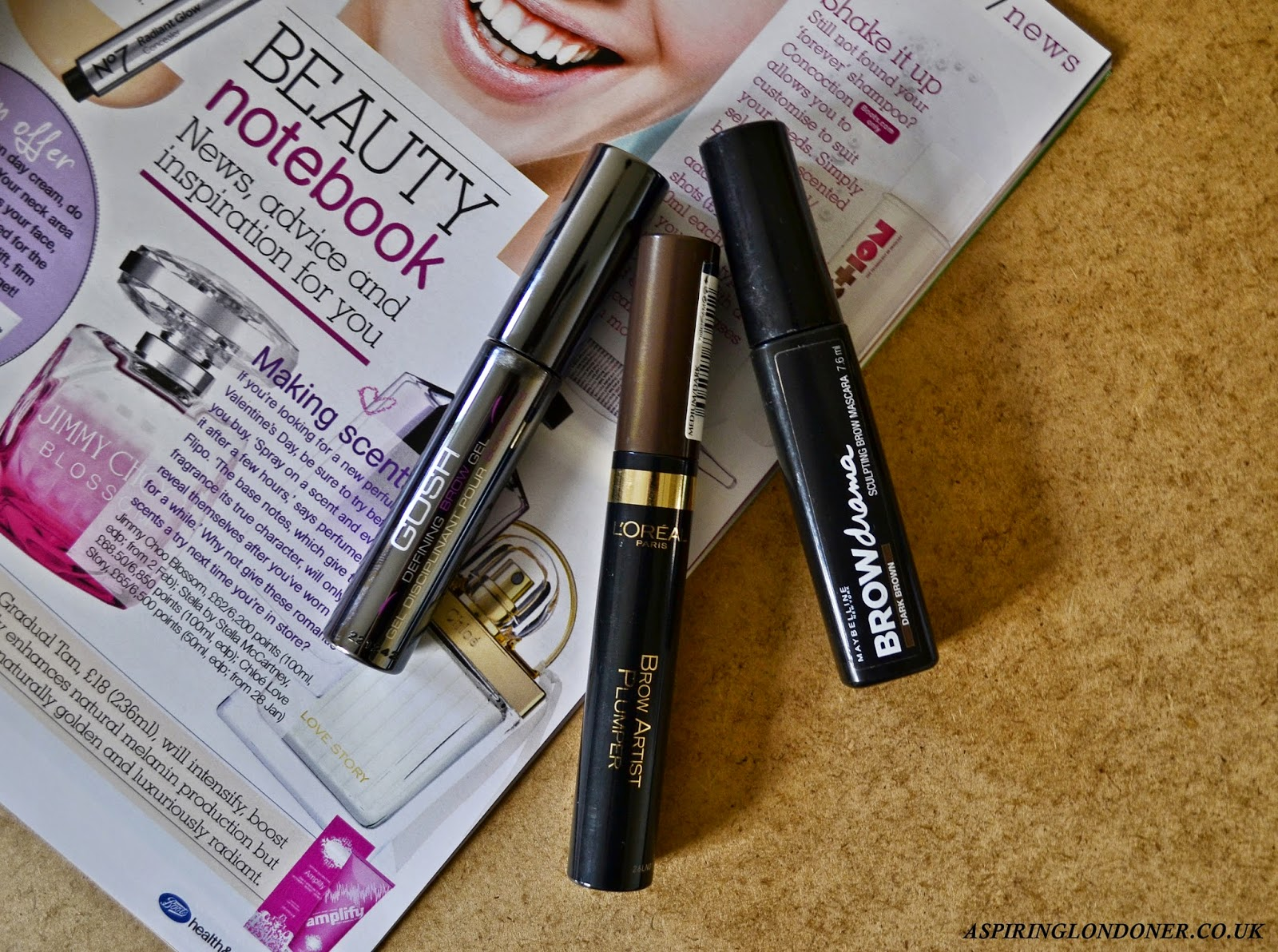 Brow Mascara Review ft L'Oreal, GOSH & Maybelline - Aspiring Londoner