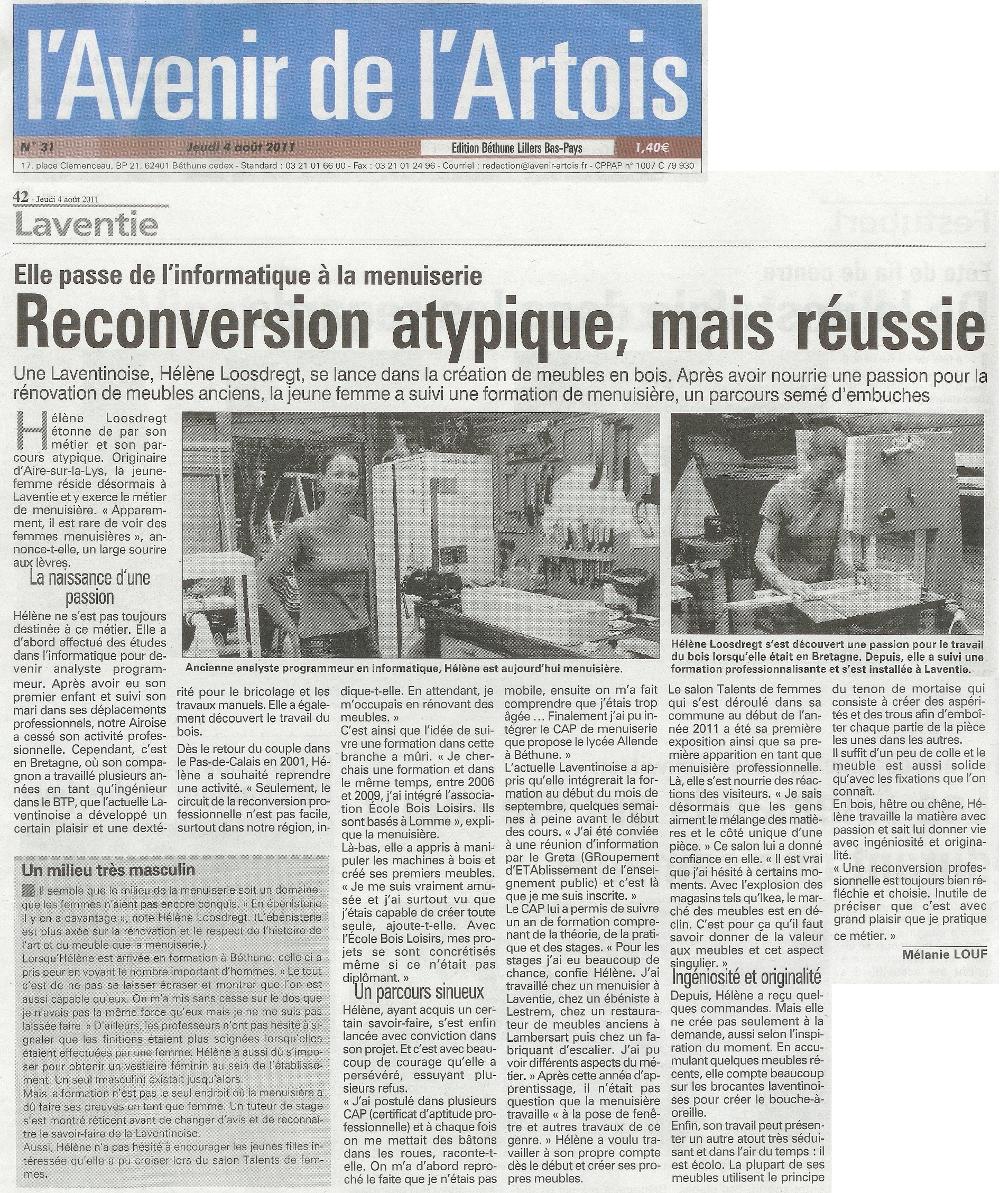 Atelier de menuiserie revue de presse for Revue de www houseplans com