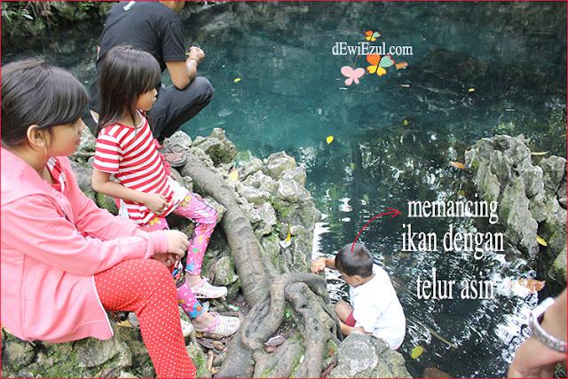 cara memancing ikan di Telaga Tilanga toraja sulsel