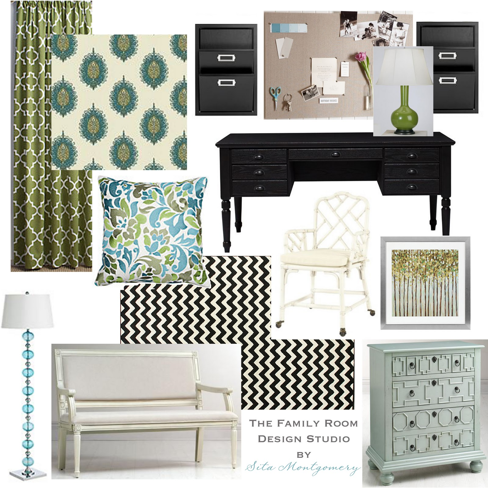 Room e design giveaway sita montgomery interiors for Office design board