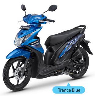 New Honda Beat Fi Blue matic injeksi PGM-Fi spesifikasi mesin dan harga - www.teknologiz.com