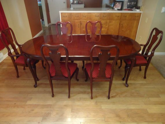 Cherry dining room table the stripper dwellings the for Cherry dining room set
