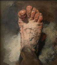 Le pied de l'artiste