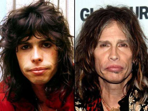 steven tyler young. steven tyler then and now.