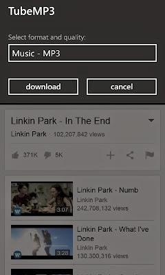 Baixar músicas do Youtube no Windows Phone