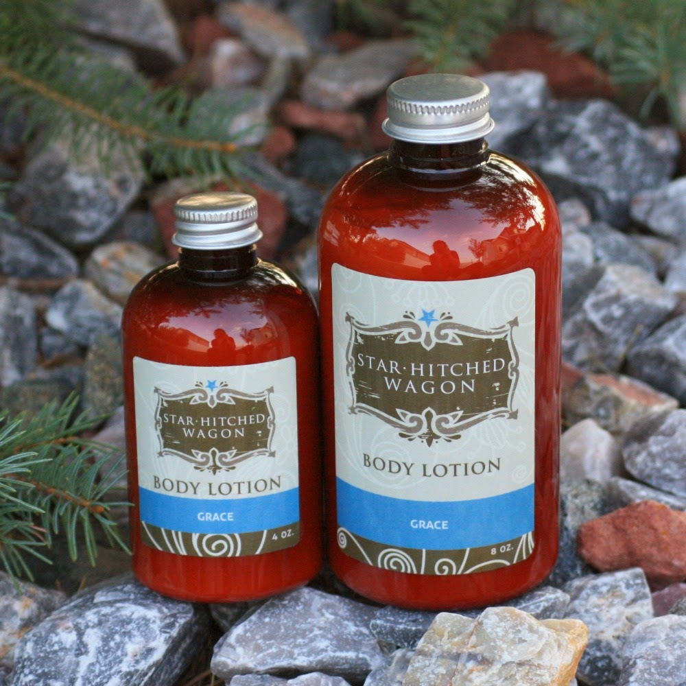 grace lotion from Star Hitched Wagon with apricot kernal macadmaia nut hazelnut and jojoba oils