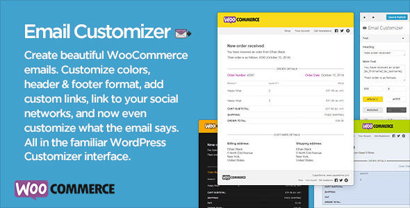 Download Email Customizer V2.22 for WooCommerce Wordpress Plugin