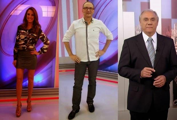 Corta pra mim Marcelo Rezende provoca confusão com Ticiane Pinheiro e Britto Jr.