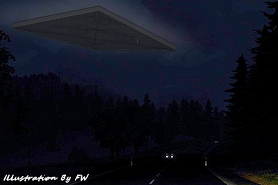 Diamond-Shaped UFO Spotted at 100 Ft Altitude