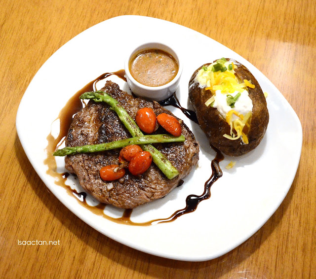 Black Peppercorn Crusted Ribeye (RM59.95 8 oz. ; RM69.95 10 oz.)