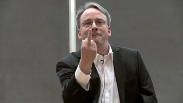 http://news.softpedia.com/news/Linus-Torvalds-I-Don-t-Care-About-You-I-Care-About-the-Technology-And-the-Kernel-470208.shtml
