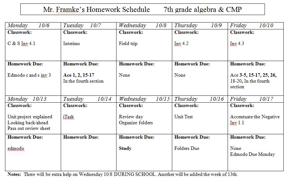 Homework help 7th grade math