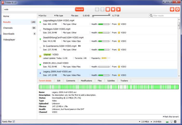 Cliente torrent Tribler en Ubuntu, mejor cliente torrent, cliente torrent reproductor,