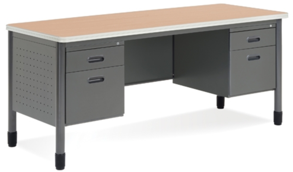 Mesa Double Pedestal Desk by OFM