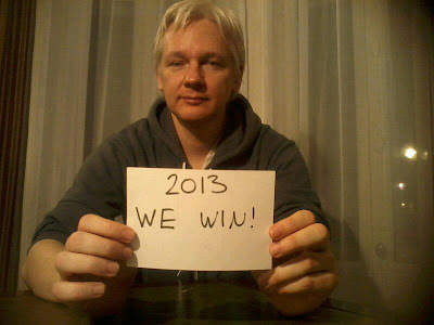 Julian Assange, Wikileaks' Founder messages 2013 We Win to the World - Whistleblower, Oxford Union, United Kingdom