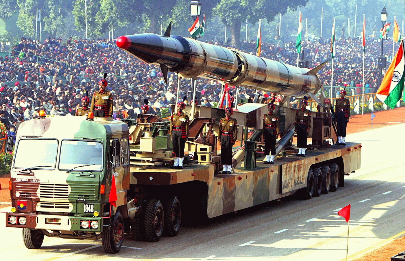 Agni II missile Republic Day Parade Indian Wallpaper