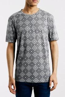 Topman Geo Tile Print T-Shirt