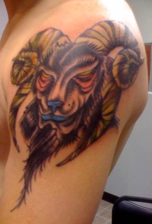 Aries Ram Tattoo