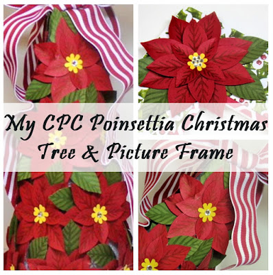 Create with christy my cpc poinsettia christmas tree for Poinsettia christmas tree frame