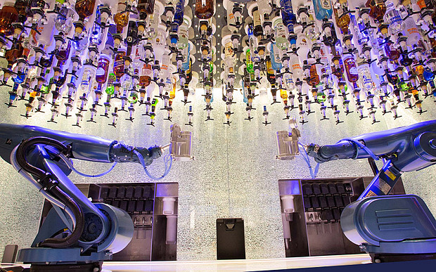 Royal Caribbean's new ship will have a bar manned by robots