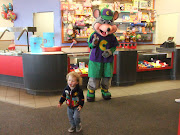 Grandma and Gunker took Dexy to Chuck E Cheese (his very first visit).
