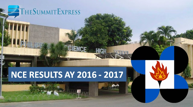 NCE results AY 2016-2017