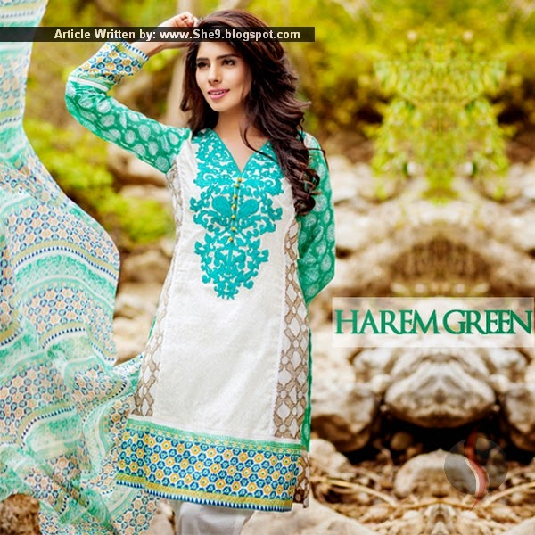 Zainab Salman Lawn Collection 2015