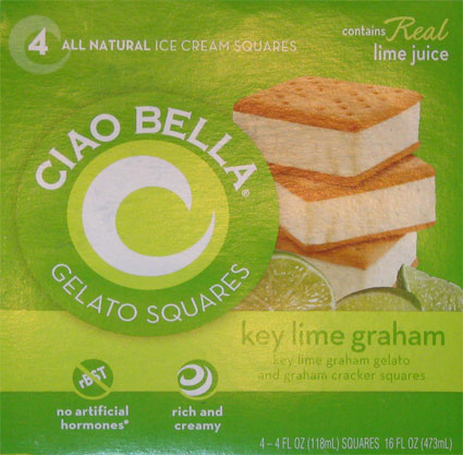 "the Key Lime Graham Gelato squares that are ""temptingly tart"". Tart..."