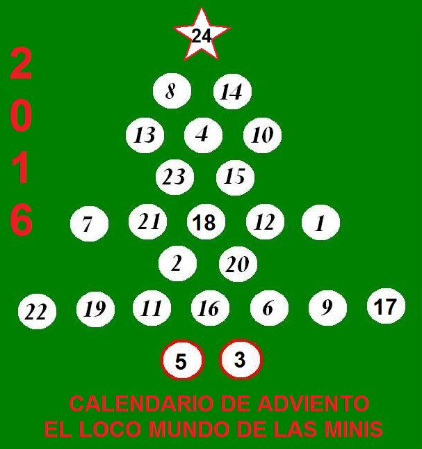 Calendario de Adviento 2016 El Loco Mundo de las Minis