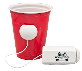 Rock-It Speaker Connected to Red Solo Cup